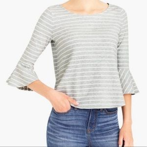 Mercantile by j.crew3/4 sleeve flared top L